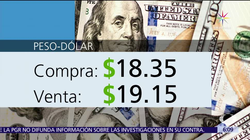 dólar, ventanillas bancarias, Ciudad de México, 18.35