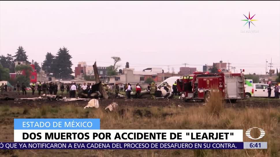 desplome de avión, Toluca, piloto, copiloto