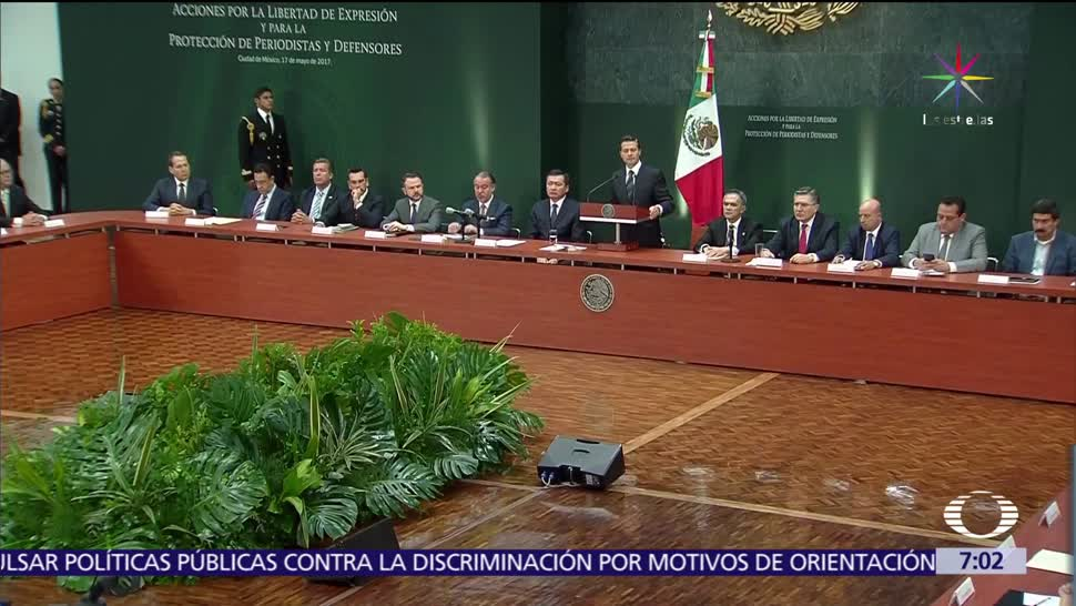 presidente Enrique Peña Nieto, medidas, protección a periodistas, periodistas