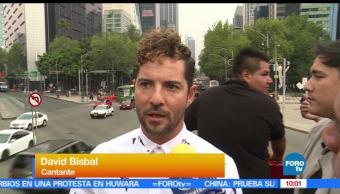 David Bisbal, calles, Ciudad de México, viaje