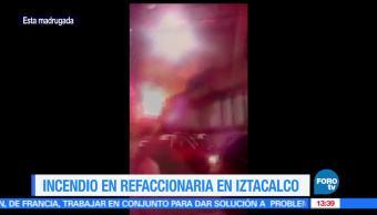 noticias, FOROtv, Incendio, consume, refaccionaria, colonia Agricola Oriental