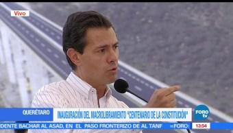 noticias, FOROtv, EPN, inaugura, Macro Libramiento, Queretaro