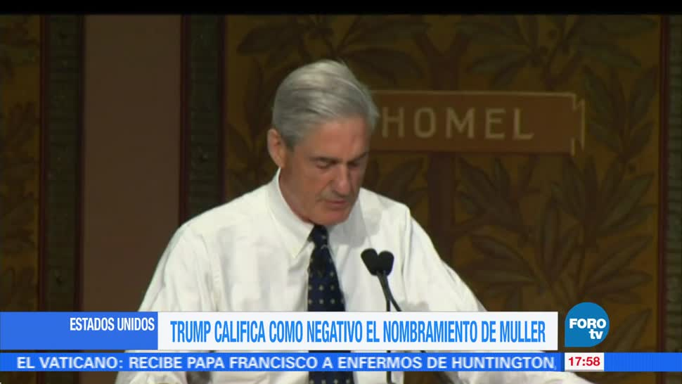 noticias, FOROtv, Trump, califica, negativo, nombramiento de Robert Mueller