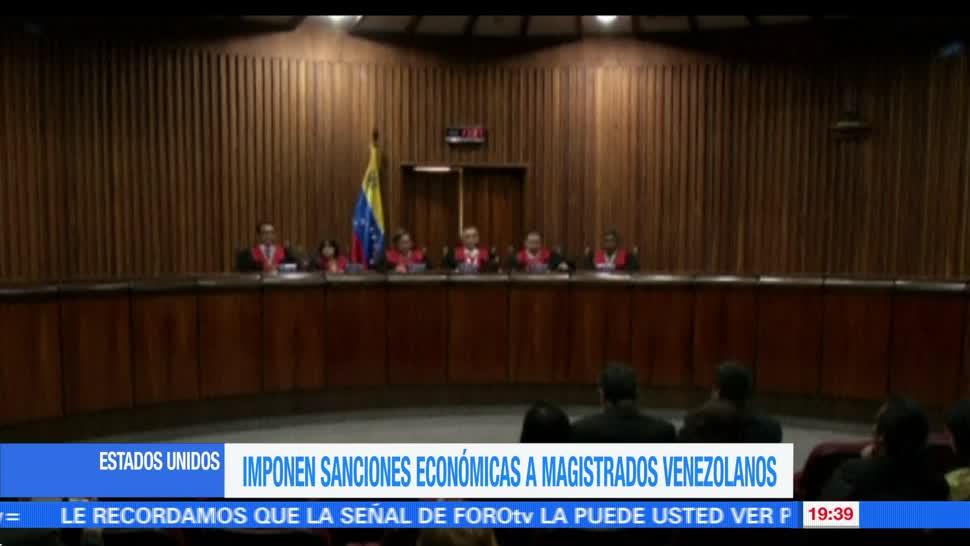 Imponen, sanciones económicas, magistrados, venezolanos, departamento del tesoro, estados unidos,
