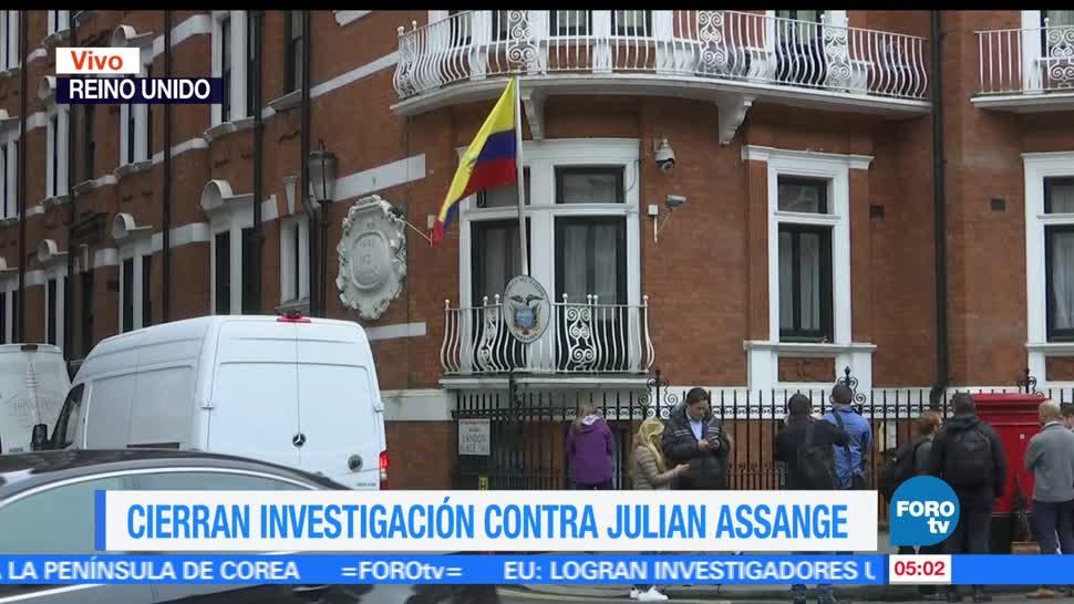 Fiscalía de Suecia, Cierran, investigación, Julian Assange