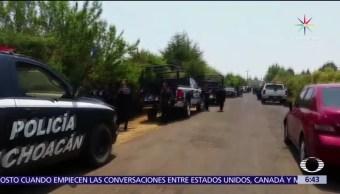 Asesinan, 7 hombres, Michoacán, Salvador Escalante