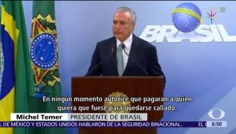Investigan, presidente, Temer, protestas Brasil