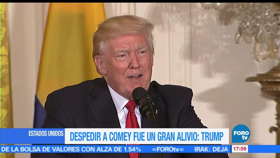 noticias, forotv, Trump, despedir, Comey, gran alivio