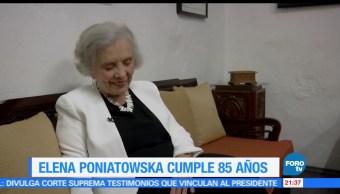 Elena, Poniatowska, cumple, 85 años, escitora, aniversario