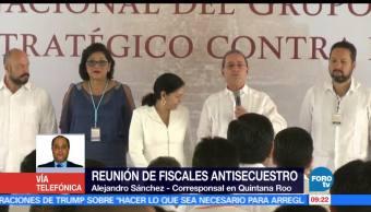 Reunión fiscales, antisecuestro, Quintana Roo, Alejandro Sánchez