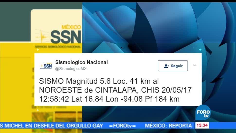 Sismo, 5.6 grados, Chiapas, Cintalapa