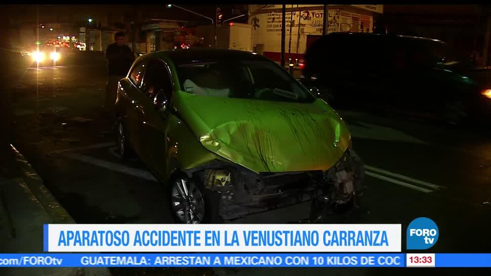 Dos automóviles, impactarse, Ciudad de México, madrugada
