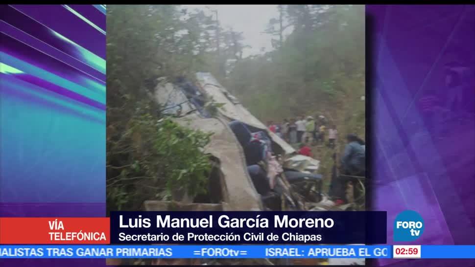 Luis Manuel García Moreno, Protección Civil, Chiapas, accidente de Motozintla