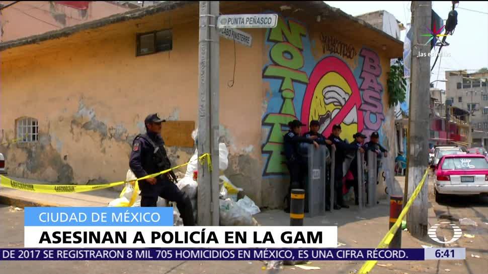 policía preventivo, vecindad. colonia Santiago Atzacoalco, hombres armados