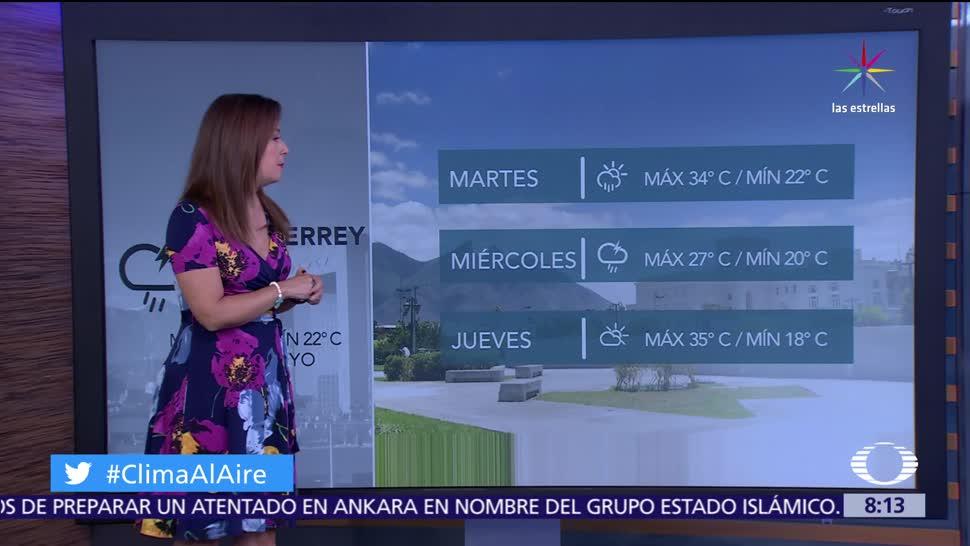 pronostican lluvias, Coahuila, Nuevo León, Tamaulipas, Chiapas