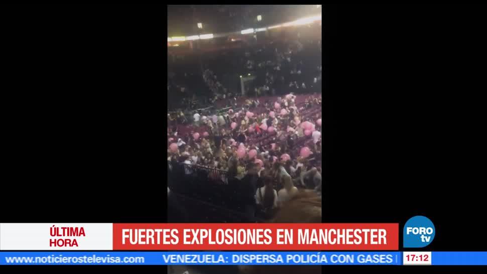 Reportan, explosiones, Manchester, Medios locales