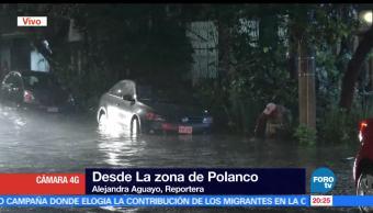 noticias, forotv, Reportan, encharcamientos, CDMX, fuerte lluvia