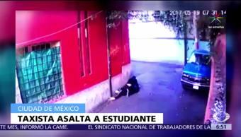 video, taxista persigue, mujer, asaltarla, CDMX