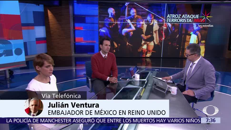 embajador de México, Reino Unido, Julián Ventura, atentado en Manchester