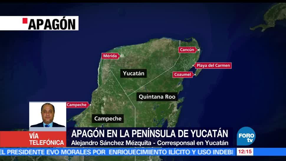 apagón, Península de Yucatán, autoridades, Turismo