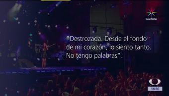 Ariana Grande, destrozada, Desde el fondo de mi corazón, No tengo palabras