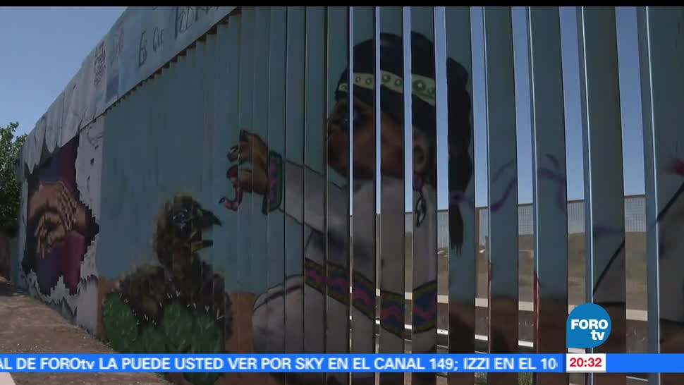 noticias, forotv, Artistas plasticos, Sonora, pintan murales, muro fronterizo