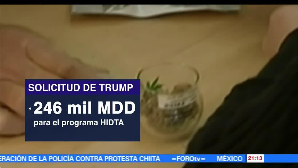 noticias, forortv, Trump, 27 mil mdd, combate a las drogas. drogas
