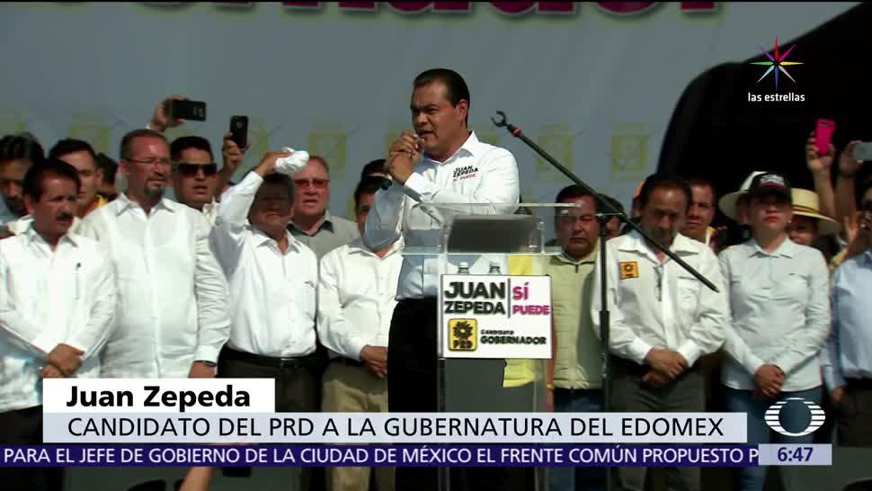 Juan Zepeda, candidato del PRD, Edomex, AMLO, Delfina Gómez