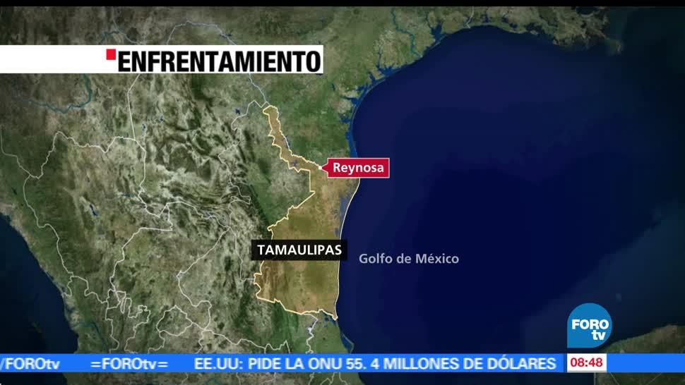 Civiles armados, uniformados en Reynosa, Tamaulipas, presuntos delincuentes