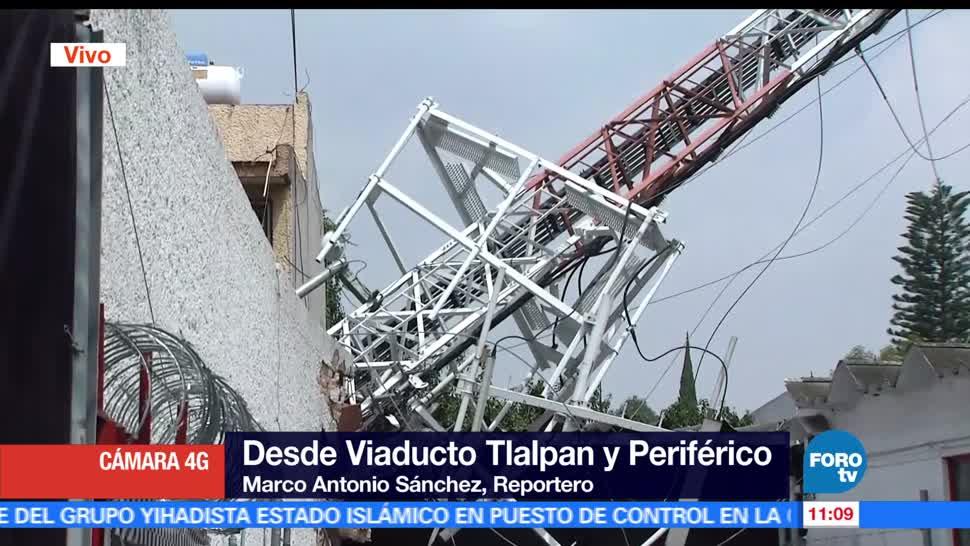 antena, telefonía celular, taller mecánico, Viaducto Tlalpan, automóviles, vivienda