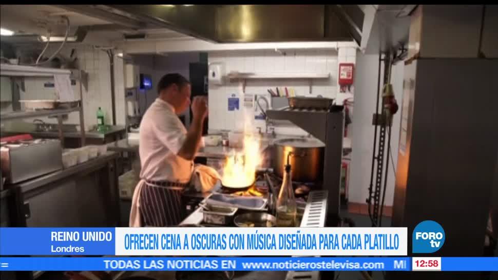 restaurante, Reino Unido, cena, estimulará sus sentidos