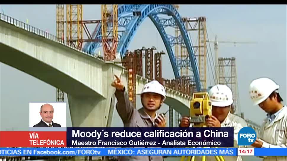 noticias, forotv, Moodys, reduce calificacion, crediticia, China
