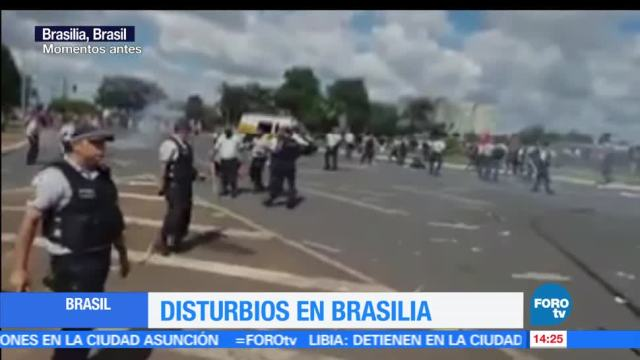 noticias, forotv, Evacuan, Ministerio de Agricultura, Brasil, ingreso de manifestantes