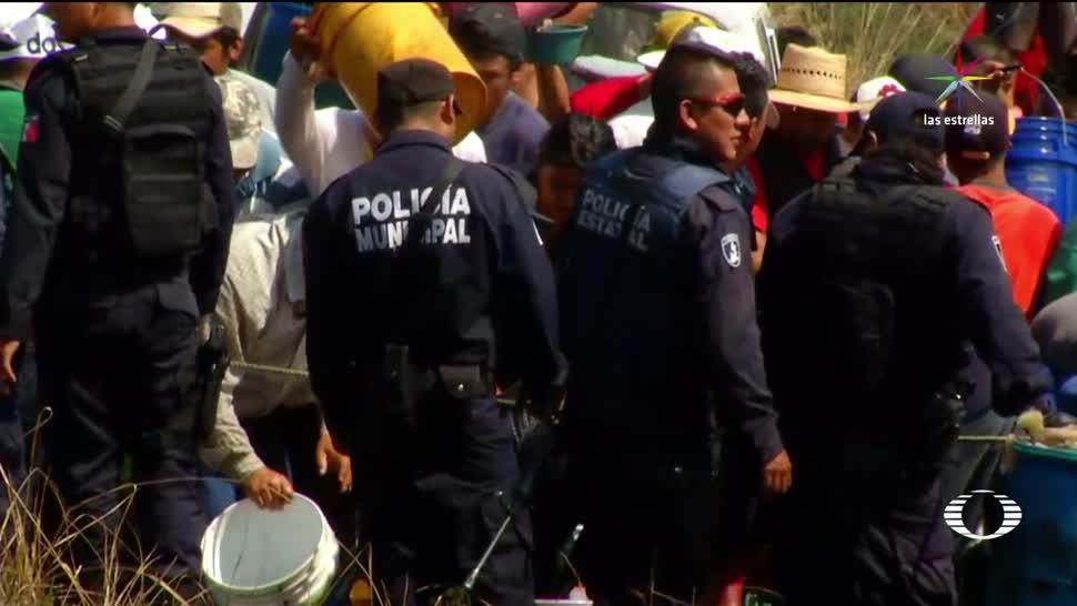 Justifican, no intervención, policías, fuga de combustible, huachicoleros, Puebla