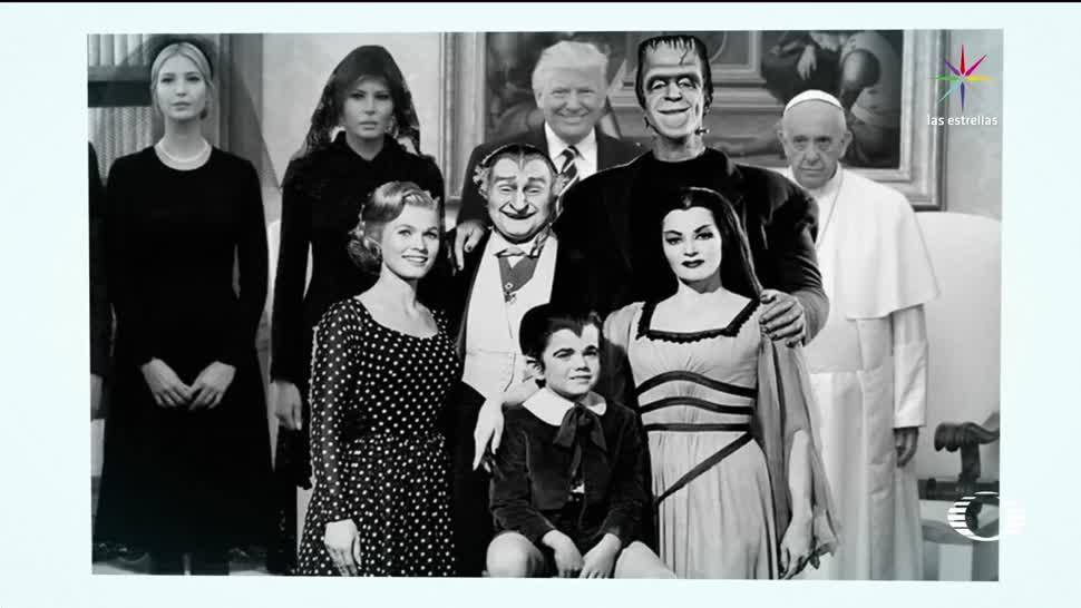 memes, foto, Trump, Papa Francisco, visita, Italia