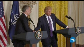 Trump, Macron, primera vez, cumbre OTAN, primeras, cumbres