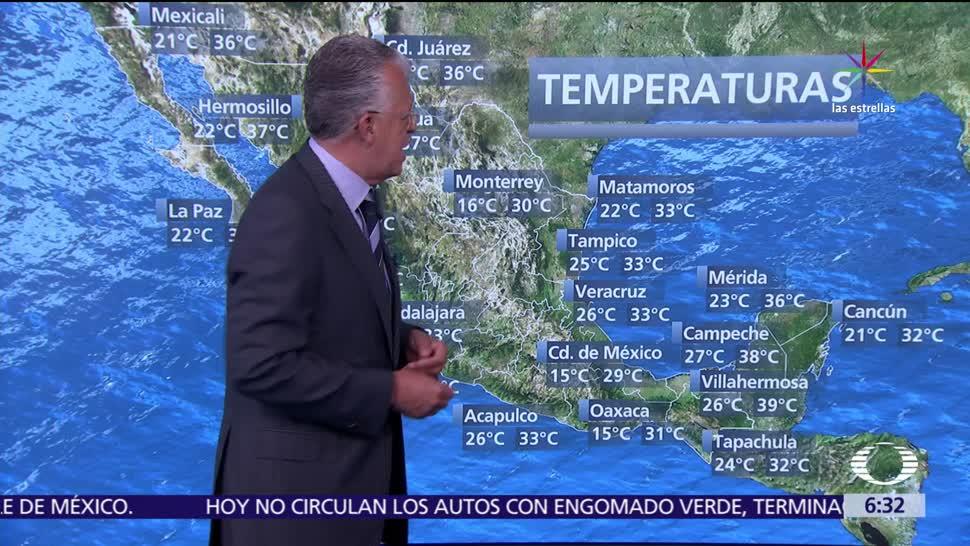 temperaturas, México, grados centígrados, entidades