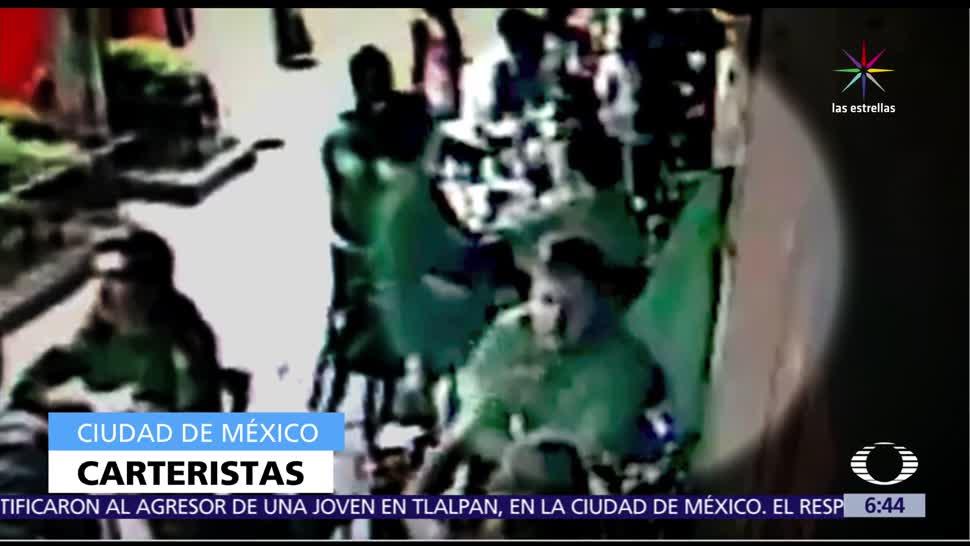 video, hombres, cartera al comensal, restaurante, colonia Condesa, CDMX
