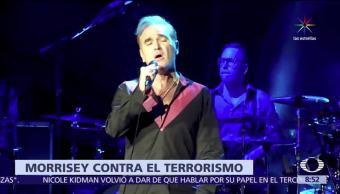 cantante Morrisey, primera ministra británica, Theresa May, alcalde Sadiq Khan, terroristas