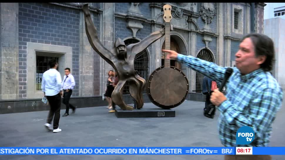 maestro, Armando Ramírez, conocer, algunas esculturas, Alameda Central