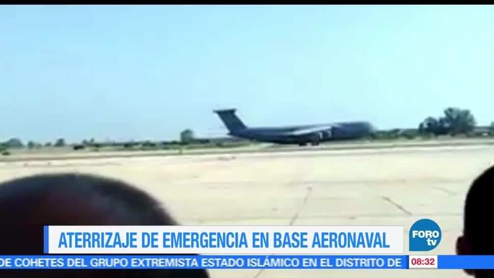 avión, fuerza aérea de Estados Unidos, aterrizaje de emergencia, avería, pleno vuelo