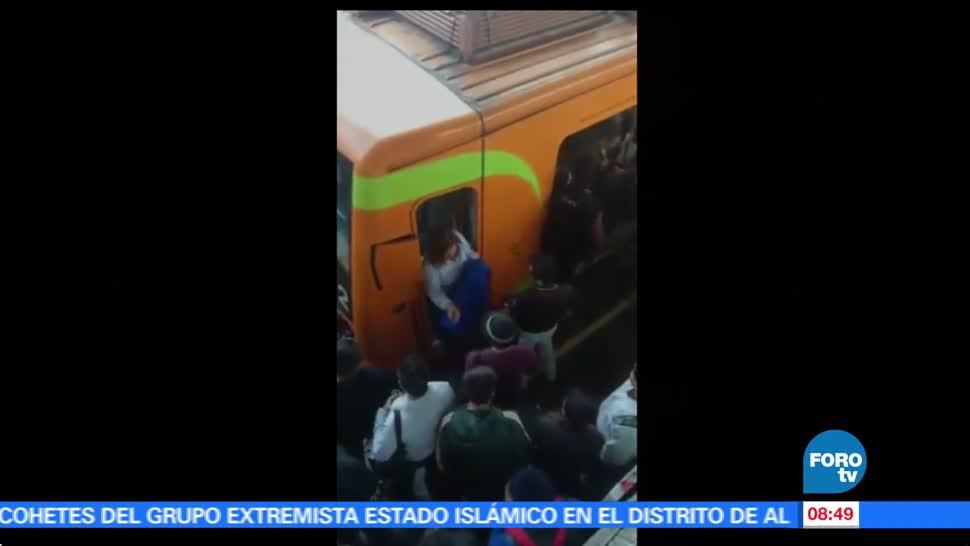 Restablecen el servicio, Línea A del Metro, incidente, trenes, estación Acatitla