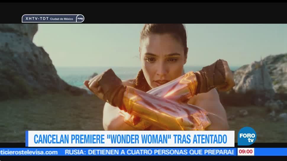 atentado en Manchester, Warner Bros, Londres, premiere, película Wonder woman