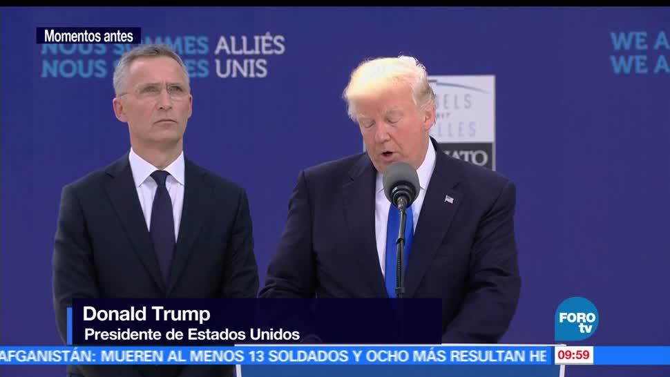 Donald Trump, presidente de Estados Unidos, aliados, OTAN, obligaciones financieras