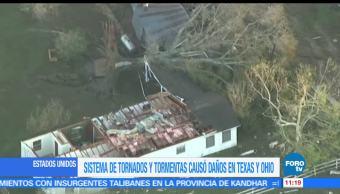 sistema de tormentas, afectaciones, estados de Estados Unidos, miles de viviendas