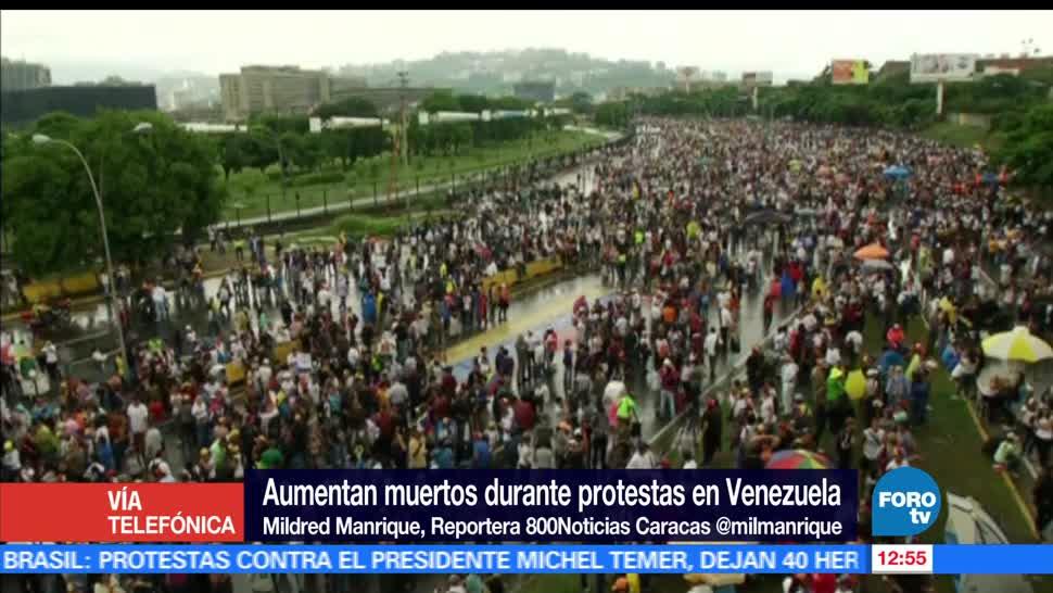 Mildred Manrique, Venezuela. jornadas de protesta, Nicolás Maduro