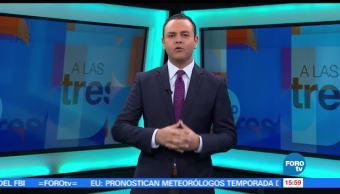 noticias, forotv, A las Tres, Programa, completo, 25 de mayo de 2017