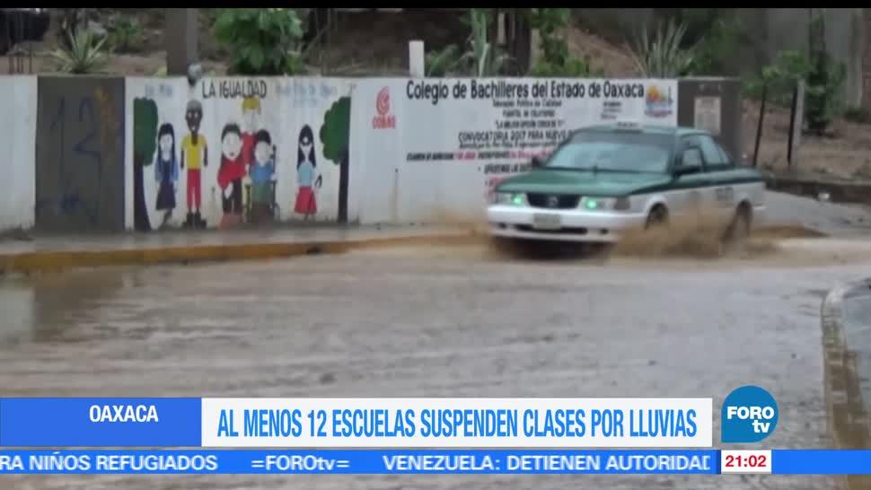 Suspenden, clases, municipios de Oaxaca, lluvias, clima, escuelas