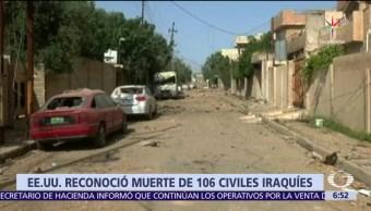 Pentágono, admite, bombardeo, civiles en Mosul