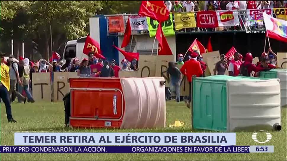 presidente de Brasil, Michel Temer, militares, Brasilia